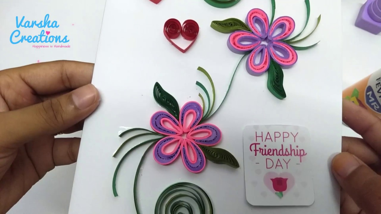 Friendship day handmade greeting cards floral greetings design friendship day handmade greeting cards floral greetings design kristyandbryce Image collections