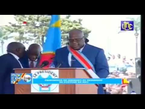 New President of DRC suffers from stroke while giving address