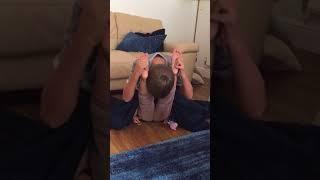 Funny yoga not my legs challenge!