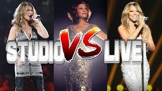 Celine Dion Vs. Whitney Houston Vs. Mariah Carey - Studio Vs. Live
