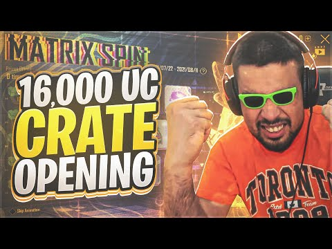 $16,000 UC FOR MATRIX SPIN 🔥🥰 - CRATE OPENING - PUBG MOBILE - FM RADIO GAMING