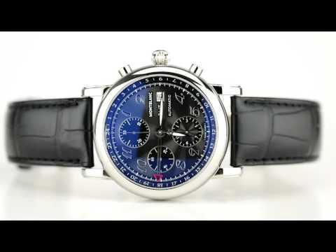 Les montres Montblanc Gmt Meisterstuck d'occasion de demcoquartz.com