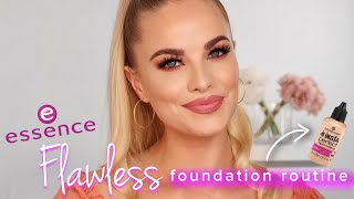 ESSENCE FOUNDATION ROUTINE | essence #TeamFlawless