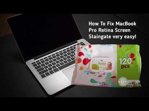 How To clean MacBook Pro Retina Screen with wet wipe easy! Как удалить retina с экрана Macbook PRO