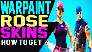 How To Get WARPAINT SKIN and ROSE TEAM LEADER SKIN Outfit in Fortnite Battle Royale RELEASE DATE