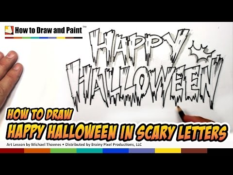 How To Draw Cool Letters Happy Halloween In Scary Letters Art For Kids Mat Youtube