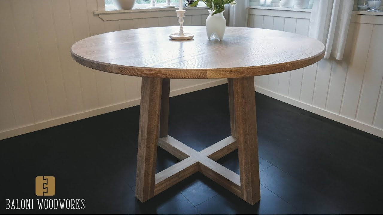 making a round dining table