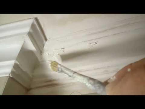 Как закруглить потолочный плинтус