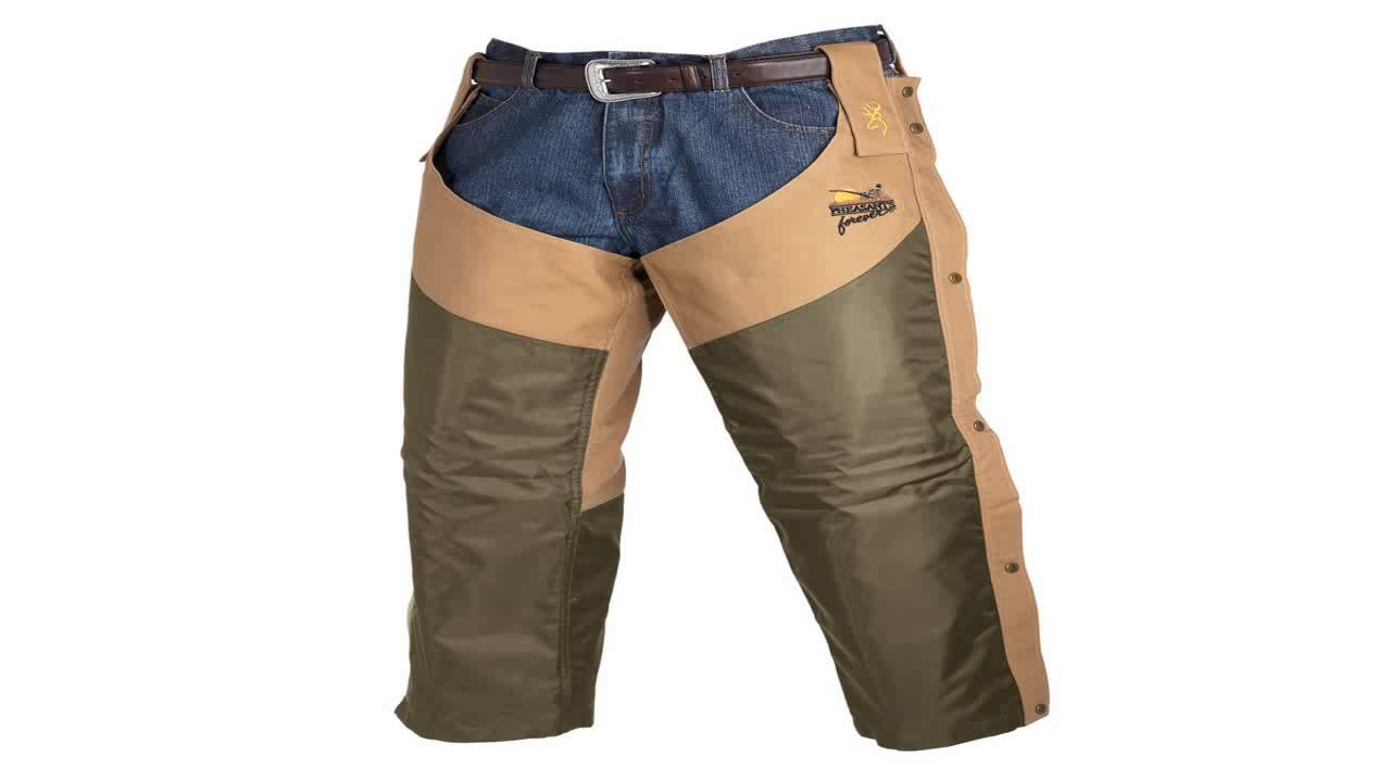 24aefe2c4c3a7 Browning Pheasants Forever Chaps Upland Field Tan Large Tall - YouTube