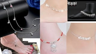 Dainty Silver Anklet|Daily Wear Payal Designs| Bracelet Thin Anklet|Light Plain Anklet | foot chain
