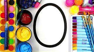 Colouring Easter Eggs 3 Styles, Easter Egg Art for Children | Learn to Color 💜(4K)