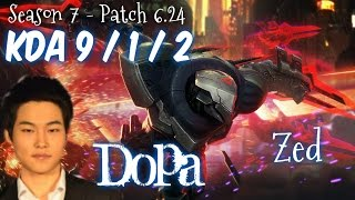 Dopa ZED vs ANNIE Mid - Patch 6.24 KR Ranked