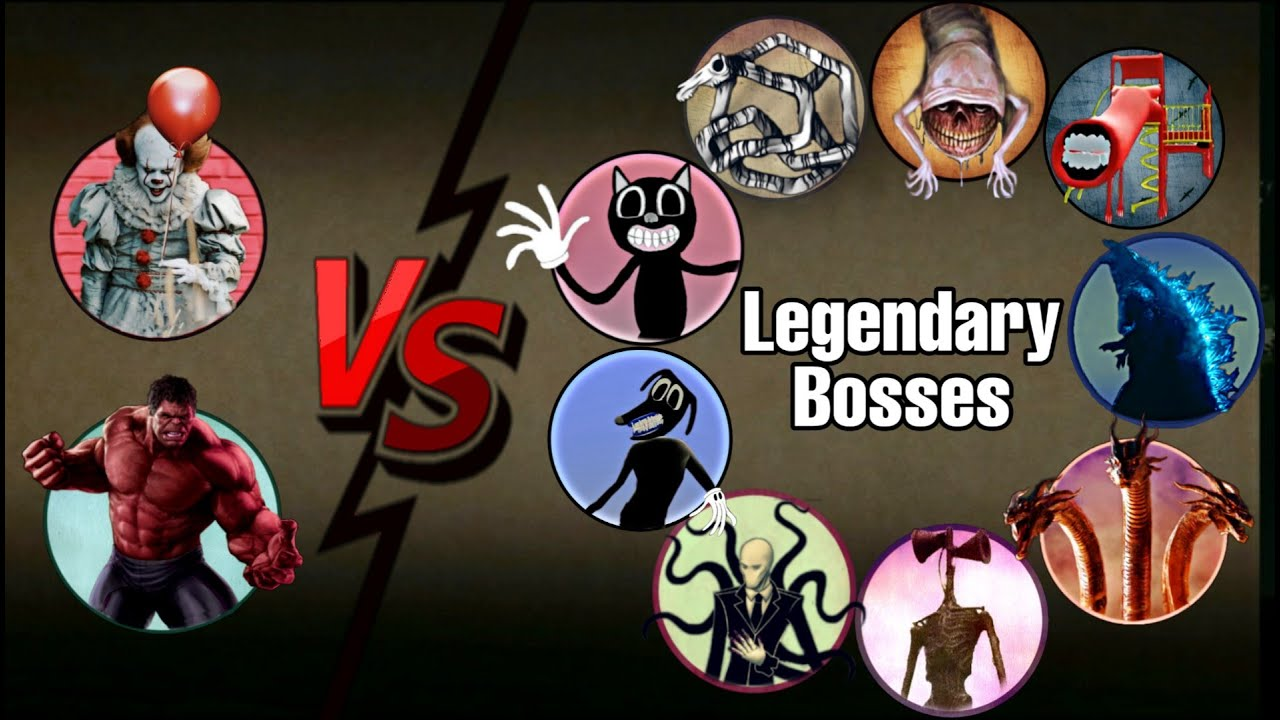 Download IT- Pennywise, Red Hulk Vs All Legendary Bosses | ALL TIME BEST VIDEO