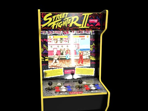 Street Fighter ll Shadow Box on CAPCOM Legacy Cabinet Arcade1Up. Original song by Arcade Will from Arcade Will