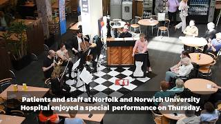 Hospital patients and staff enjoy performance by Britten Sinfonia