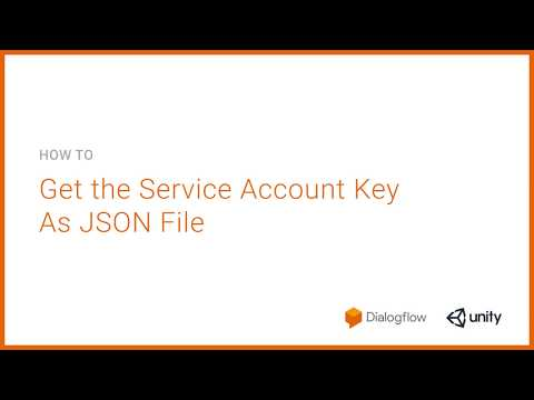 STEP 1: Get the Service Account Key As JSON - YouTube