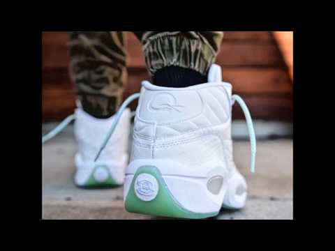 78cd4a3225da70 The Reebok Question Returns in  Mint Glow  Snakeskin detailing on this new  colorway. dafreshestniggainlakecounty. dafreshestniggainlakecounty
