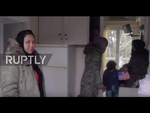 Greece: Heavy snowfall forces Lesbos refugees to be housed in hotels