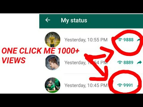 How To Whatsapp Hack Status Increase Views Unlimeted Latest Trickin Hindi2019 Technicallipu