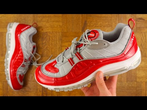 best sneakers 37330 126aa SUPREME X NIKE AIR MAX 98 REVIEW!