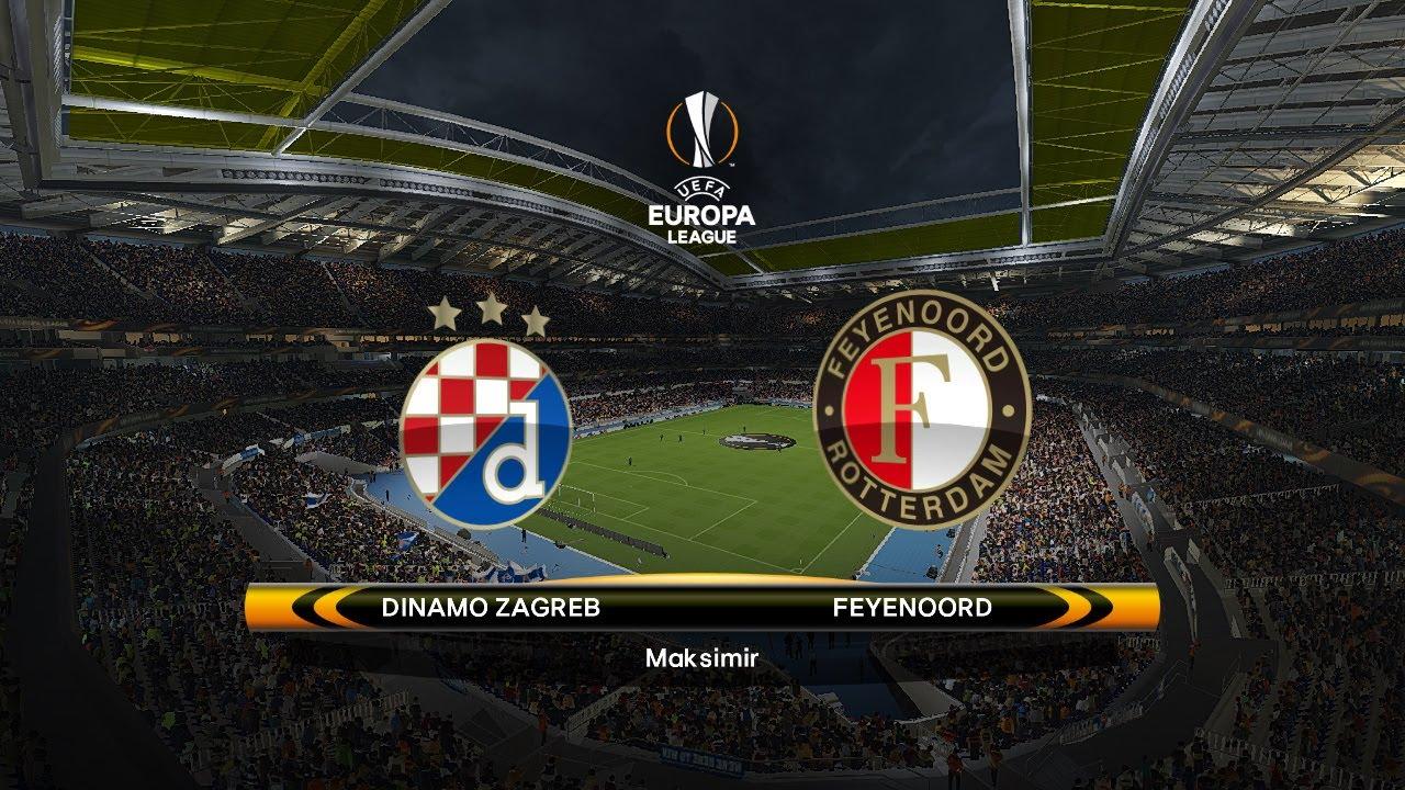 Europa League Dinamo Zagreb Vs Feyenoord Youtube