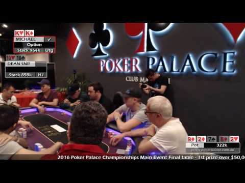 2016 Poker Palace Championships Final Table