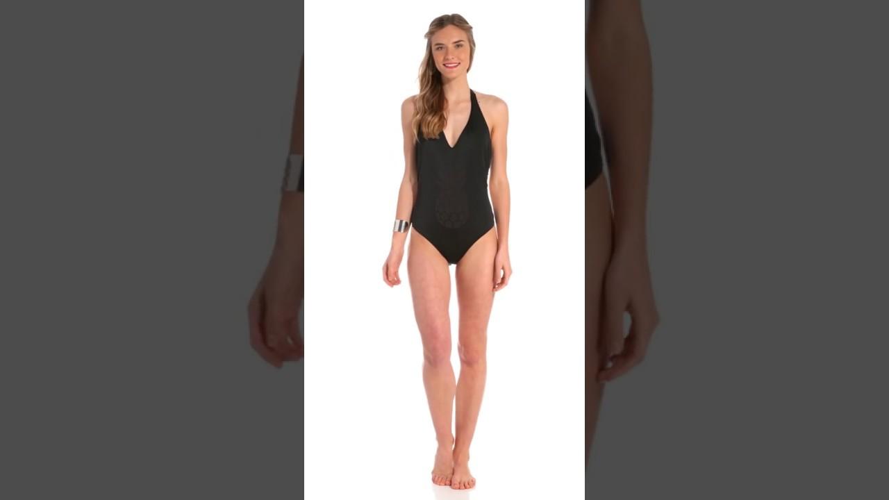 b0ec40d0351a2 Reef Swimwear Californication Halter One Piece Swimsuit | SwimOutlet.com