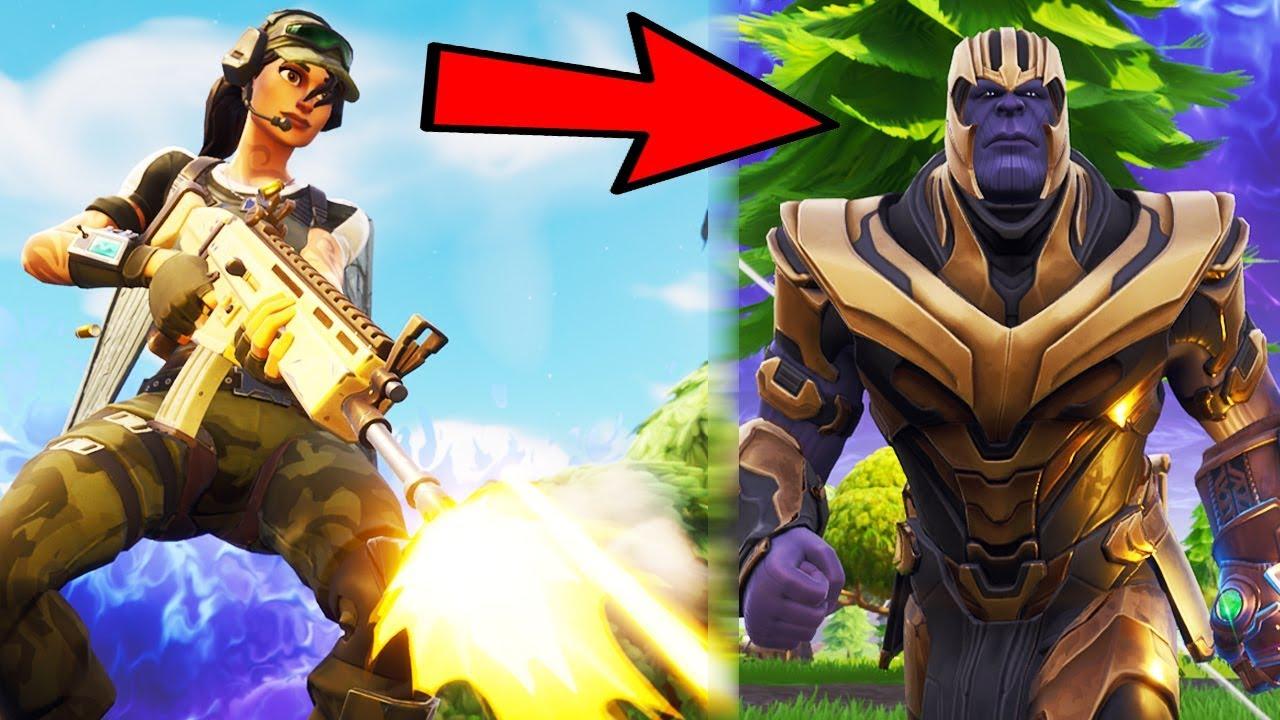 Crazy Thanos 1v1 Fortnite Battle Royale New Gameplay