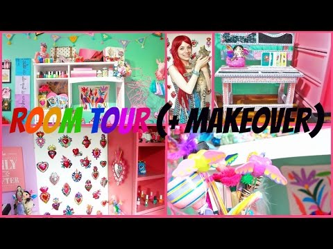 ROOM TOUR 2016 BEDROOM MAKEOVER, THE APARTMENT TOUR, IDEAS ... on Room Decor Manualidades Para Decorar Tu Cuarto id=31203