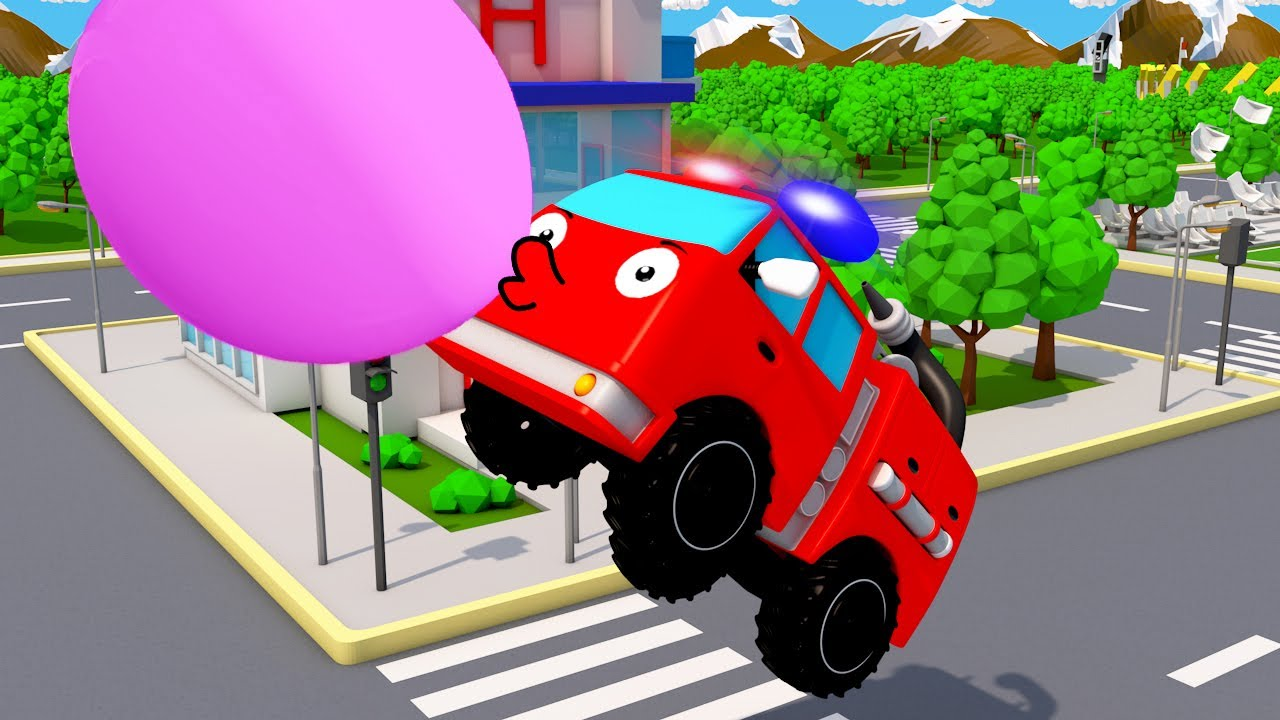 Camion De Pompier Et Super Piste Nouveau Dessin Anime En