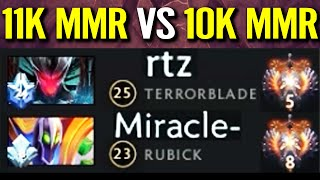 21K MMR Fight! MIRACLE vs ARTEEZY - Rubbick God Try to Counter Terrorblade Epic Dota 2 Pro Gameplay