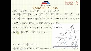 [Zadanie 7] Matura z matematyki poziom rozszerzony. Maj 2018.
