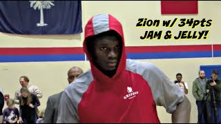 Zion Williamson Plays ANGRY! Goes OFF w/ Rachel DeMita watching