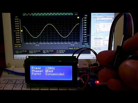 Генератор сигналов из AD9833 и Ардуино