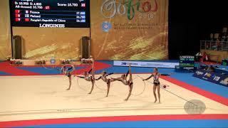 Czech Republic (CZE) - 2018 Rhythmic Worlds, Sofia (BUL) - Qualifications 5 Hoops