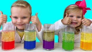 Science for kids. DIY Lava lamp. Martin and Monica