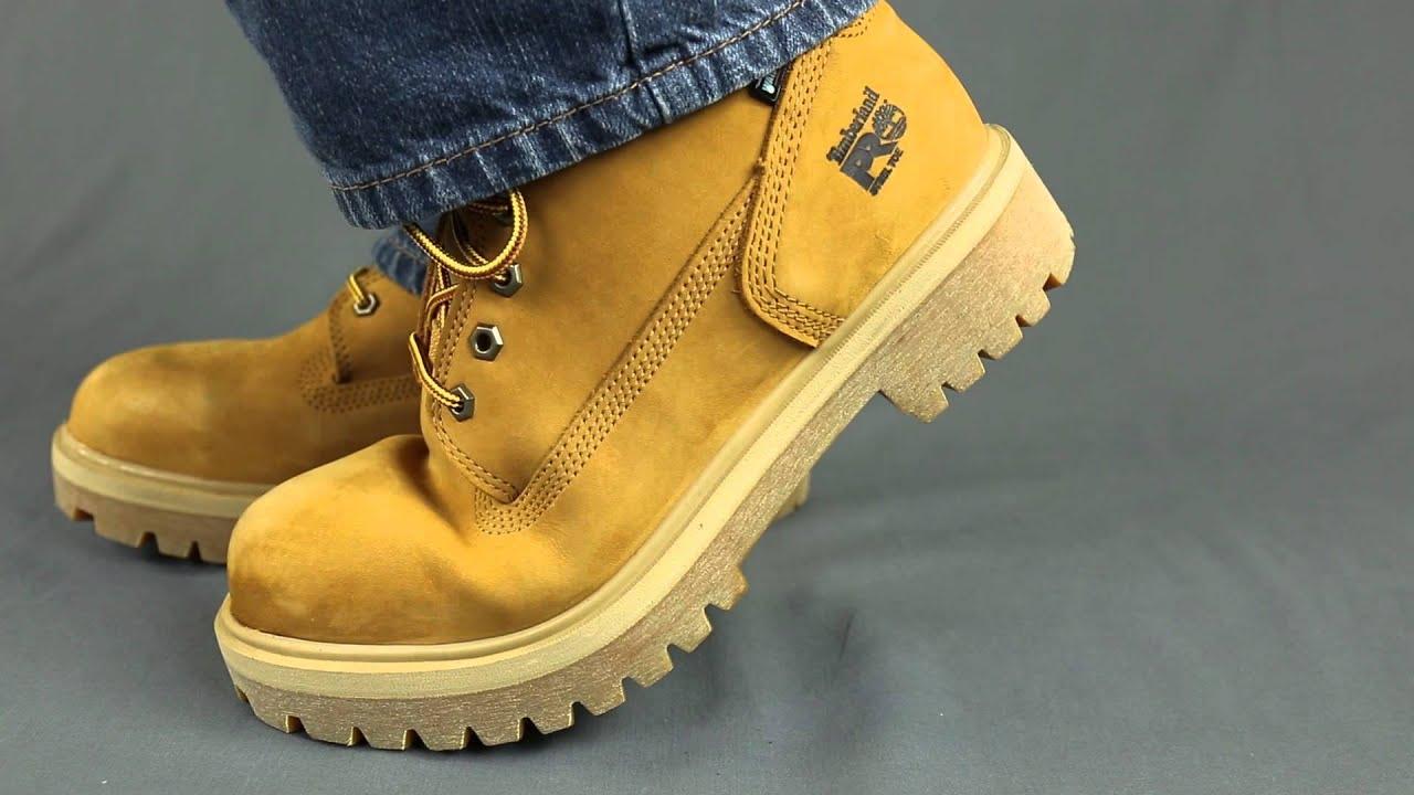 Timberland PRO Boots: Men's Waterproof 65016 Wheat Nubuck Steel Toe Boots