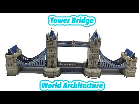 DIY Miniature Tower Bridge Of London ~ 3D Puzzle Paper Model