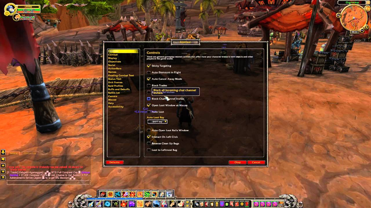 How to enable detailed status bar Experience Bar in WOW