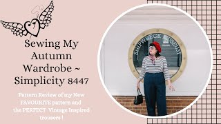 Sewing My Autumn Wardrobe ~ Pattern Review ~ Simplicity 8447 OR MY New Favourite Pattern
