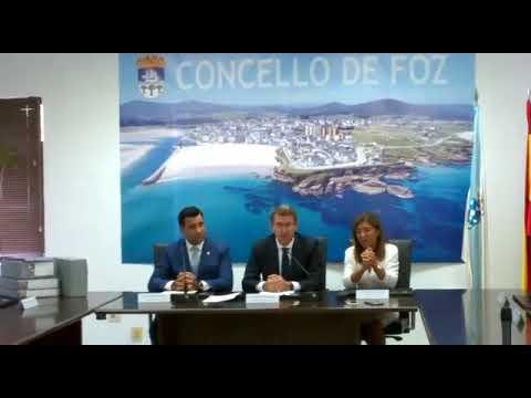 Feijóo celebra la aprobación del nuevo PXOM de Foz, que contribuirá al crecimiento de servicios