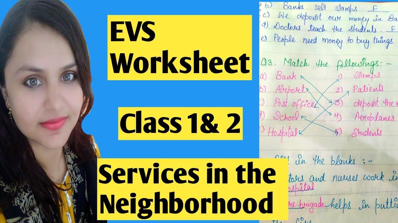EVS Worksheet   Class 1   Class 2   Services in the Neighborhood - YouTube [ 720 x 1280 Pixel ]
