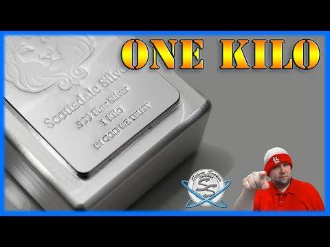 1-Kilo Silver Bar - Scottsdale Stacker