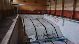 ABANDONED School with Water Tower and Swimming Pool