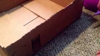 Diy Cardboard Cat Bed Step By Step Guide. Comfortable Bed For Many Cats