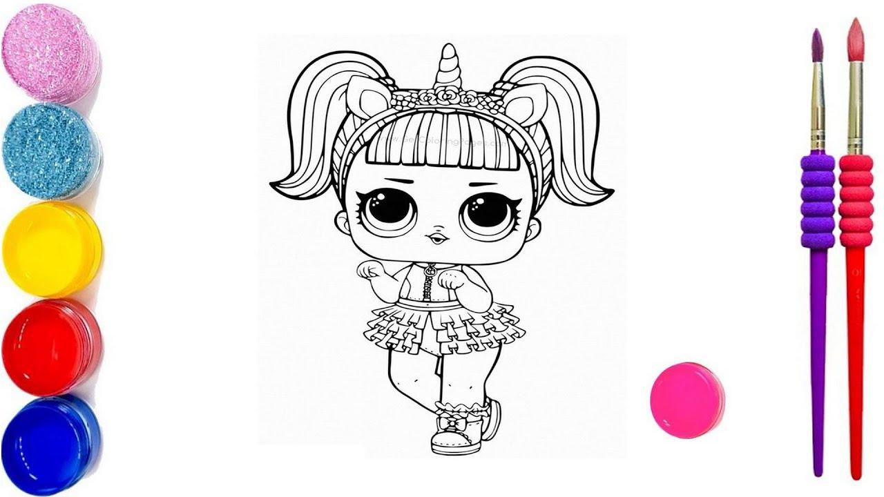 Как раскрасить куклу ЛОЛ / Раскраски для детей/ Раскраска ...