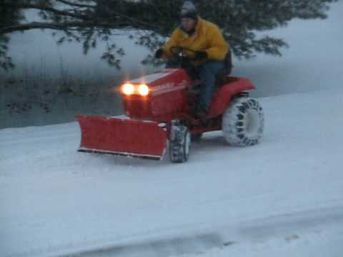 "Gravely - Plowing a whopping 3"" of Michigan snow is a bit more fun"
