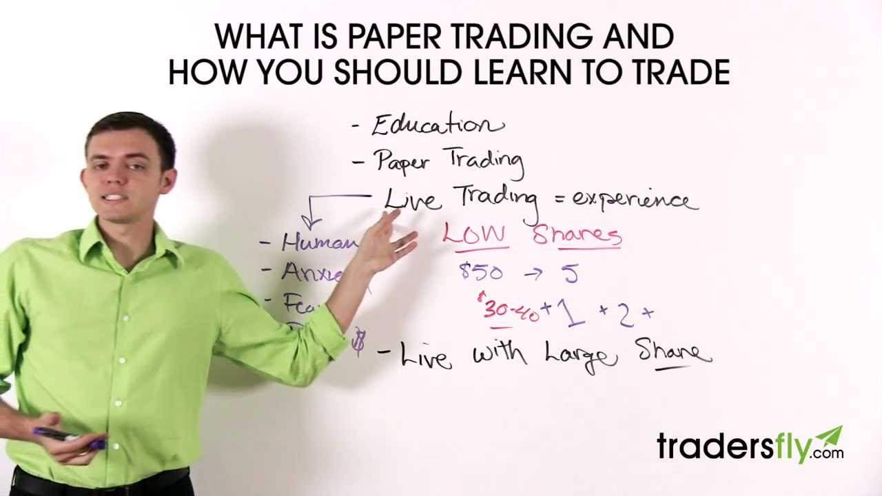 stock market paper trading Stock market forecasting techniques:  a stock market is a public market for trading the  used to analyzed the stock index in this paper the.