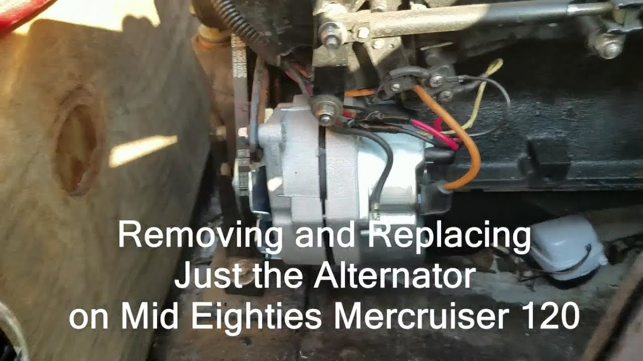 how to replace mercruiser 120 alternator removal inboard boat motor [ 1280 x 720 Pixel ]