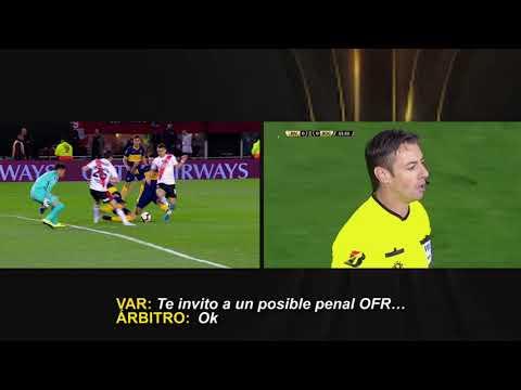 Conmebol dio a conocer los audios del VAR del penal del Superclásico